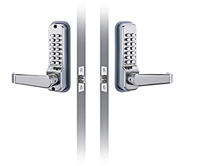 """CODELOCKS CL410BB Codelock with Entry and Exit Lever, Passage, 2 3/4"""" Latch Bolt Back to Back"""