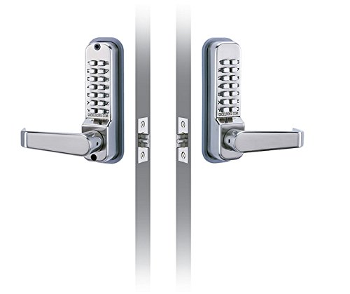 CODELOCKS CL415BB Codelock with Entry and Exit Lever, Passage Mode, Back to Back with 2 3/4'' Latch Bolt by Codelocks