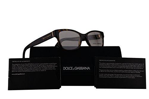 Dolce & Gabbana DG3274 Eyeglasses 52-17-140 Havana w/Demo Clear Lens 502 DG - Eyeglasses Gabbana Dolce Rimless