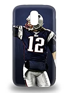 Hard Plastic Galaxy S4 Case Back Cover Hot NFL New England Patriots Tom Brady #12 Case At Perfect Diy ( Custom Picture iPhone 6, iPhone 6 PLUS, iPhone 5, iPhone 5S, iPhone 5C, iPhone 4, iPhone 4S,Galaxy S6,Galaxy S5,Galaxy S4,Galaxy S3,Note 3,iPad Mini-Mini 2,iPad Air )