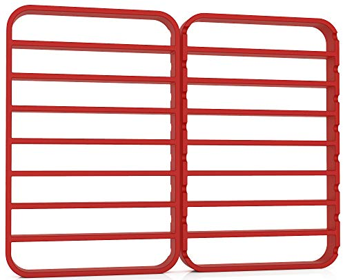 Oversize Silicone Roasting Rack Heavy Duty Cooling and Baking Rack Fits Jelly Roll Sheet Pan Oven Safe Roast Rack Wire Grid for Cooking Steaming (11