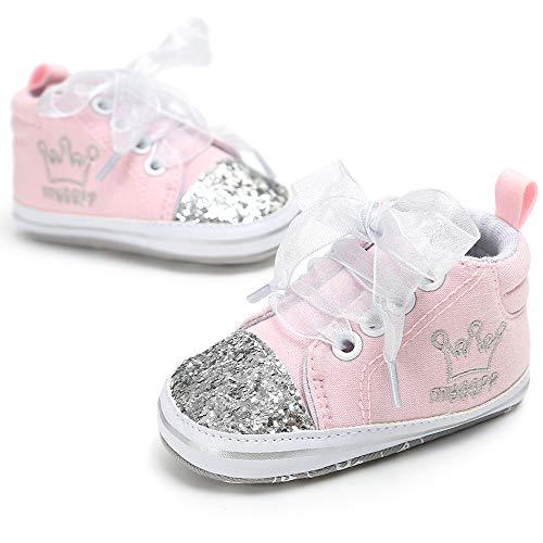 - Unisex Baby Boys Girls Star High Top Sneaker Soft Anti-Slip Sole Newborn Infant First Walkers Canvas Denim Shoes