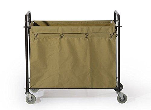Commercial Laundry Cart, H 37.6'' x W 21.8'' x L 35.8'' by Farag Janitorial (Image #1)