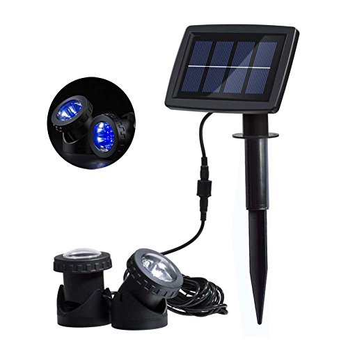 Solarstation Solar Powered Pond lights with 2pcs Lamps Ho...