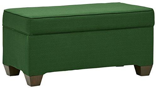 Stone & Beam Edgewood Modern Storage Ottoman, 36''W, Emerald by Stone & Beam