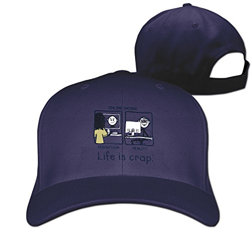 Life Is Crap On Line Dating Flat Snapback Hat Cool
