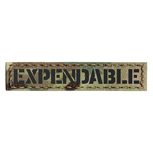 (Multicam IR Expendable 1x5 Infrared Name Tag Callsign IFF Morale Tactical Fastener Patch)