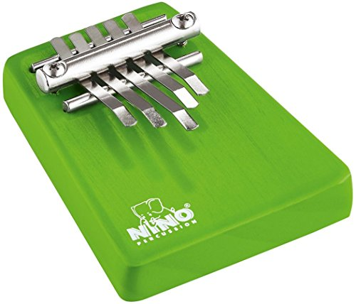 (Nino Percussion Kids' Kalimba with Five Chrome Plated Steel Keys, Small Size - NOT MADE IN CHINA - Radiata Pine, 2-YEAR WARRANTY (NINO963GR))