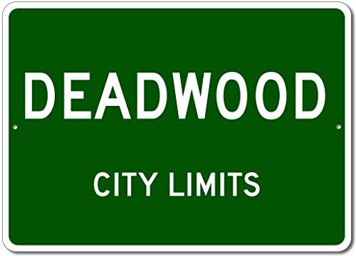 Deadwood, South Dakota - USA City Limits Street Sign - Aluminum 10