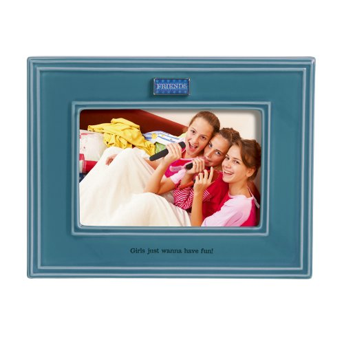 Grasslands Road Everyday Life Photo Frame, Friends, 4 by 6-Inch (Picture Frame Silver Rim)