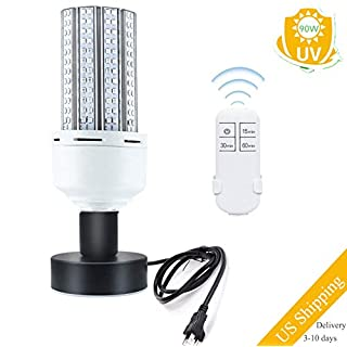 UV Germicidal Lamp,90W Sanitizer Lamp Bulb with Remote Control and Base Suitable for Home,Restaurant,Office,Warehouse,Supermarket E26/E27 Led UVC Light Bulb