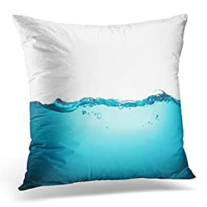 Emvency Throw Pillow Cover Green Bottle Water Clean Closeup Decorative Pillow Case Home Decor Square 18x18 Inches Pillowcase