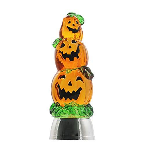 Lighted Pumpkins For Halloween (DRomance Color Changing LED Pumpkin Light Battery Operated with 6 Hour Timer, 3-Tiers Lighted Water Lamp Swirling Glittering Jack O Lantern Halloween Decoration(3.7 x 11)