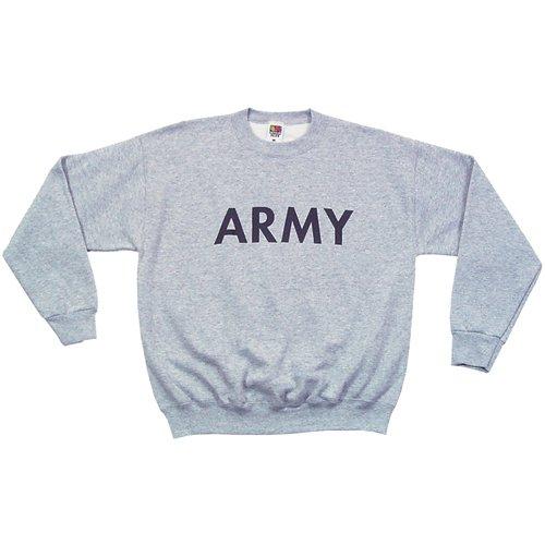 Fox Outdoor Products Army Crewneck Sweatshirt, Heather Grey, - Sweatshirt Army Pullover