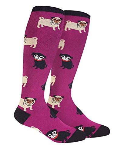 Sock It to Me, Pug Life, Unisex Stretch-It Knee-High Socks, Pug Socks for $<!--$8.40-->