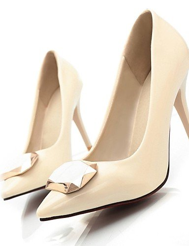GGX/Damen Schuhe Patent Leder Sommer/spitz Toe Heels Büro & Karriere/Casual Stiletto Heel Pailletten Schwarz/Pink/Beige beige-us10.5 / eu42 / uk8.5 / cn43