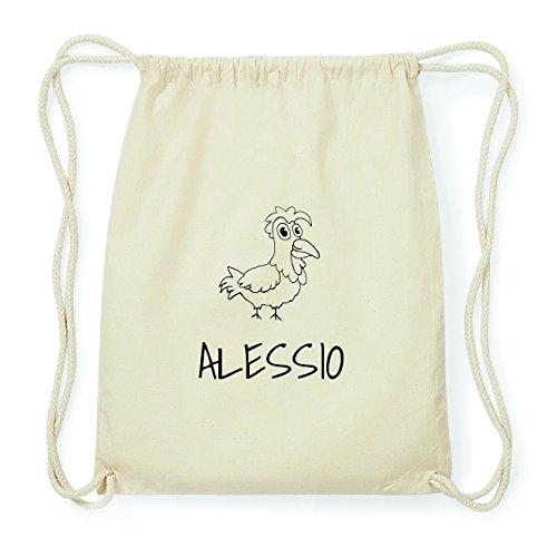 JOllipets ALESSIO Hipster Turnbeutel Tasche Rucksack aus Baumwolle Design: Hahn