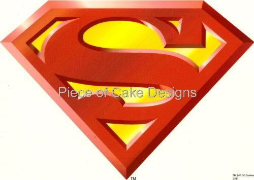 1/4 Sheet ~ Superman Logo Birthday ~ Edible Image Cake/Cupcake Topper!!!
