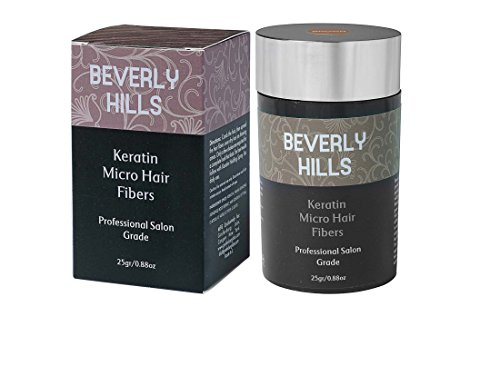 Hair Building Keratin Fibers – Conceal Hair Loss, Add Thickness and Body, and Thicken Thinning Roots – for Men and Women by Beverly Hills Brown