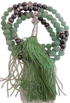 Toys Spiritual Supplies Green Aventurine Heamiite Celtic Knot elastic Prayer Mala (Green Aventurine Elastic)