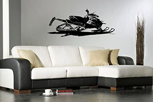 Snowmobile Personalized Wall Sticker,Snowmobile Wall decal,snowmobile sticker