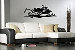 Arctic Cat Decal Arctic Cat Sticker Snowmobile Wall Art Snow Ride Mountains Winter Snowmobile Room Decor G3749