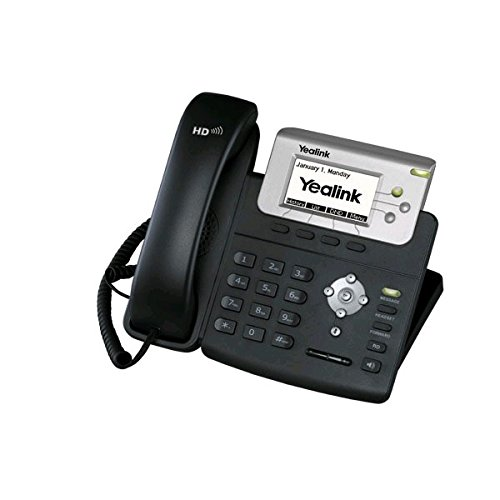Yealink T23G IP Phone, 3 Lines. 2.8-Inch Graphical LCD. Dual-Port 10/100 Ethernet, 802.3af PoE, Power Adapter Not Included (SIP-T23G) by Yealink