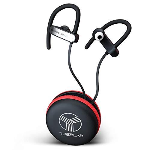 TREBLAB XR800 – Premium Sport Earphones Bluetooth – Secure-Fit IPX7 Wireless Waterproof Earbuds for Running & Workout…