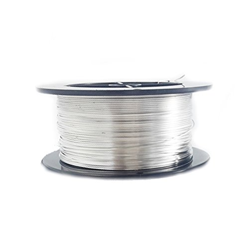 Round Sterling Silver Hard Wire - 1 Ounce (76 Ft) 925 Sterling Silver Wire 26 Gauge, Round, Half Hard - from Craft Wire