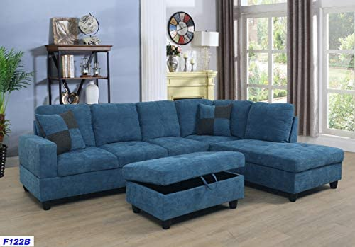 Amazon.com: Lifestyle Furniture Right Facing 3PC Sectional ...