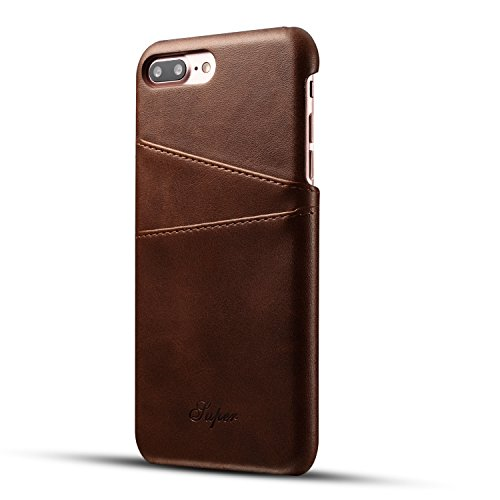iPhone 7 Plus&8 PlusWallet Phone Case, Slim Leather Back Case Cover With Credit Card Holder (5)