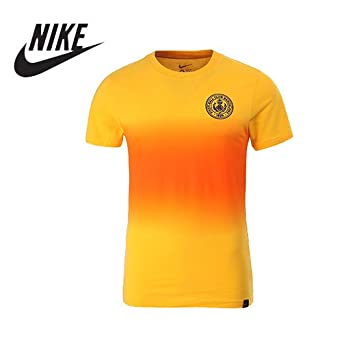Nike Hombres de Barcelona Fútbol/Fitness Camiseta L Naranja-Amarilla