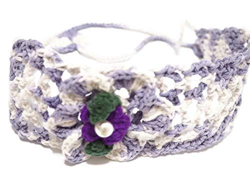 (Jenjira headband knitted crochet.Handmade Bangkok.Length 30