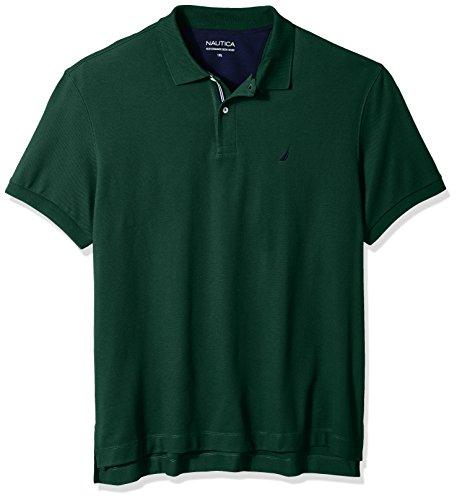 Mens Solid Shirt Polo - Nautica Men's Standard Classic Short Sleeve Solid Polo Shirt, Tidal Green, Medium