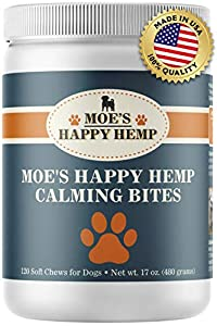 Moe's Happy Hemp Calming Bites for Dogs