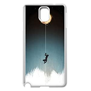 Moon Pattern Hard Plastic Back Phone Case For Samsung Galaxy Note 4 Case HSL422331