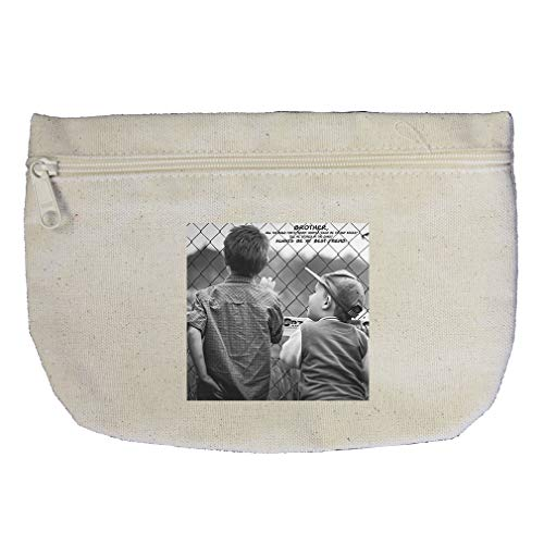 Two Brothers on Ground Holding the Fences Cotton Canvas Makeup - Fence Canvas