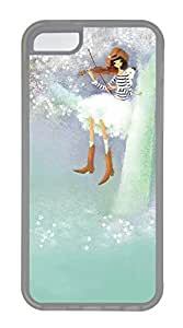 LJF phone case Durable Mobile Phone Protection Shell Oil Painting Girl ViolinCases For iphone 4/4s - Summer Unique Wholesale 5c Cases Transparent Soft Edge Case