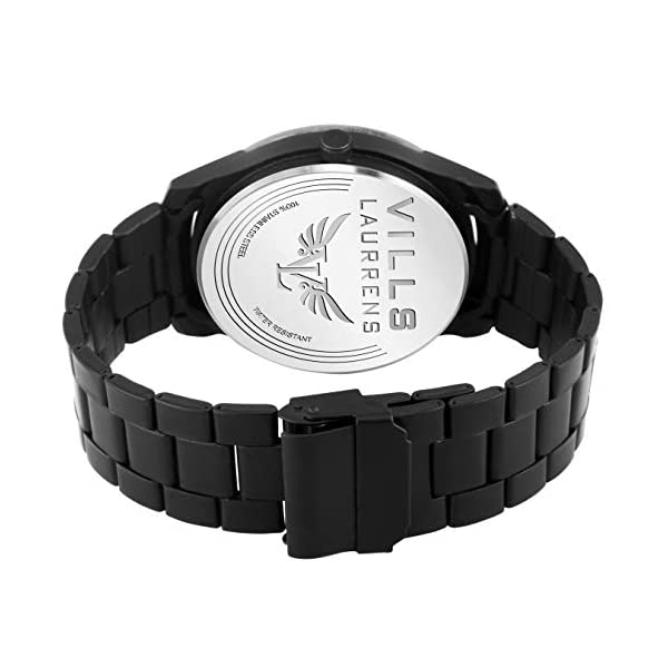 Vills Laurrens Analogue Black Dial Day and Date Men's Watch