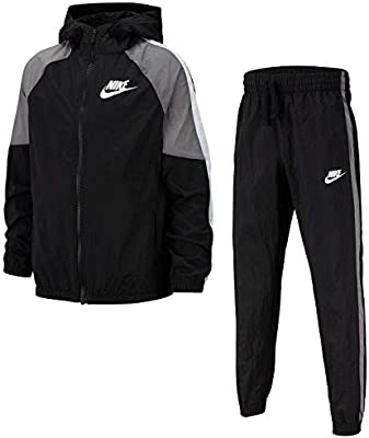 Nike Sportswear Chándal, Niños, Black/Gunsmoke/White/White, S ...