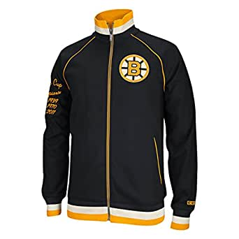 Boston Bruins Full Zip CCM Hockey Track Jacket (Large)