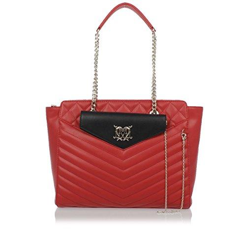 Love Moschino Women's Quilted Double Chain Handle Satchel Handbag - Moschino Womens Eau De Toilette