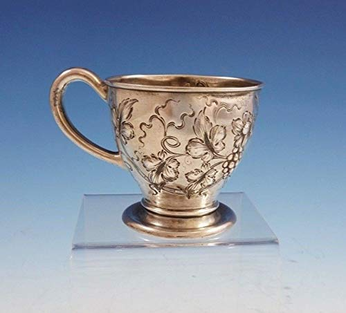 Victorian Baby's Cup/Child's Cup Chased with Repoussed Grapes Leaves (#3022)