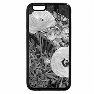 iPhone 6S Case, iPhone 6 Case (Black & White) - Portrait of Flowers 12