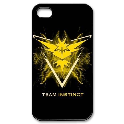 Team Instinct Logo Hard Plastic Snap-On Case Skin Cover For iPhone 4 4S Black Phone Case LPB885