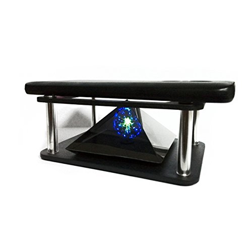 3D Hologram Pyramid Projector For Smartphone iPhone iPad Samsung Galaxy Sony Xperia Tablet Naked Eye 3D Video Display Prism For All Smart Phone Cell (Cell Phone Hologram)