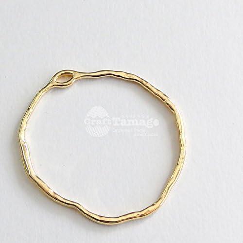 Craft Tamago 【10個】不規則 あいまいな円のデザインチャーム 36*35mm