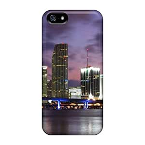 Hot Tpye Miami Cityscape Case Cover For Iphone 5/5s by ruishername