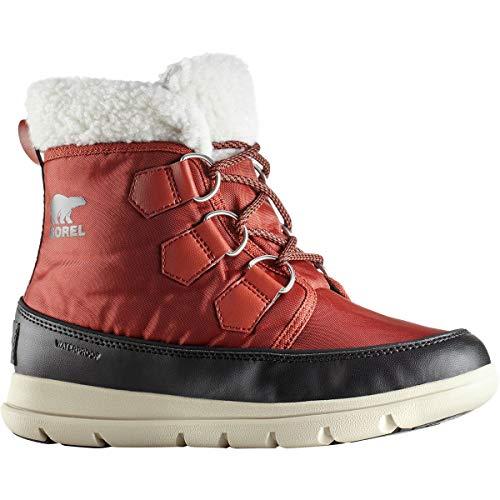 SOREL Womens Explorer Carnival Waterproof Hiking Nylon Ankle Winter Boot - Rusty/Black - ()