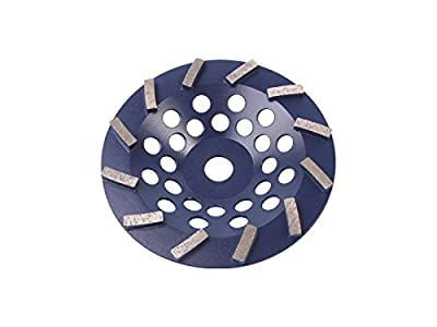 Blastrac CG-725DT Concrete Turbo Diamond Cup Wheel 12 Seg Premium Blade, 7""